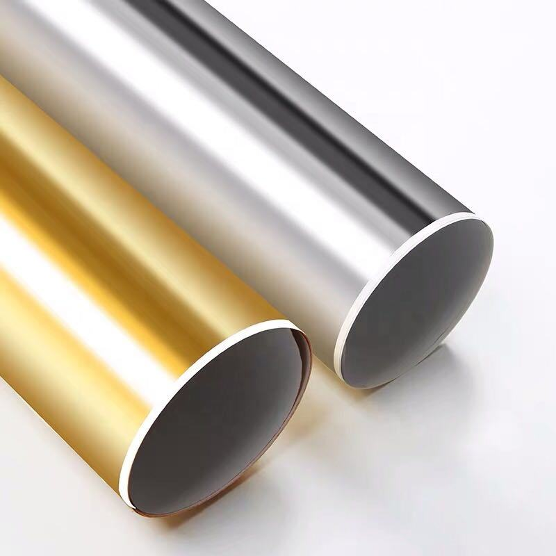 High Quality wholesale 787*1092mm 889*1194mm standard size holographic Gold Metallized paper