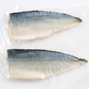 China export Chemical free IQF Frozen Seafood pacific finless Frozen Mackerel Butterfly Fillet