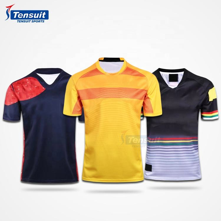 Sublimated rugby training t shirts professional sports wear rugby jersey