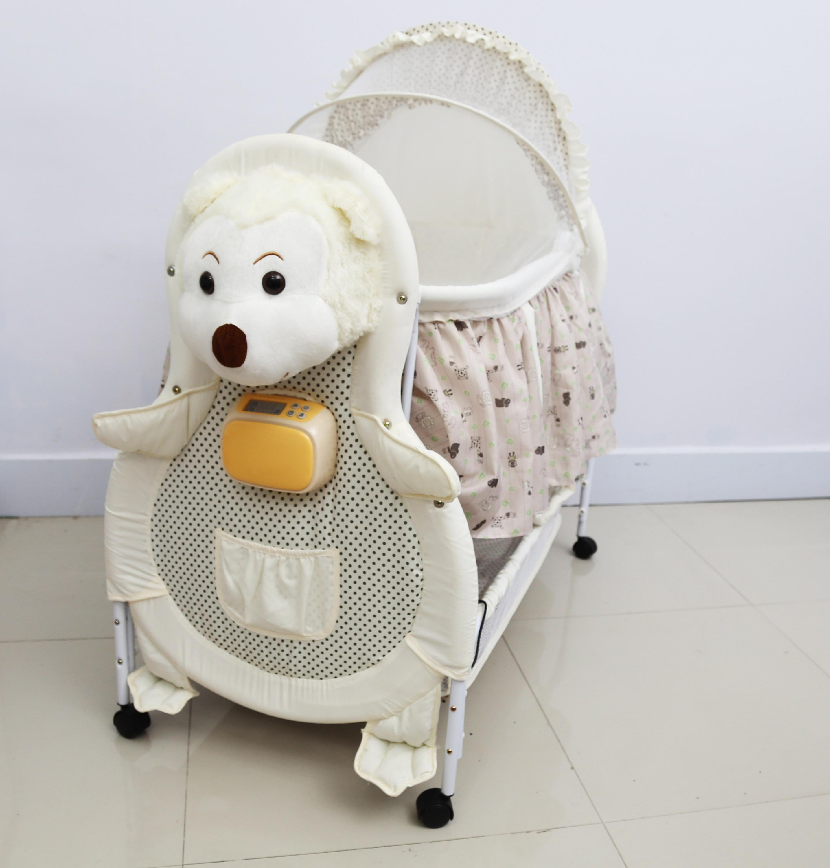 cute plush monkey automatic and electric baby swing cradle