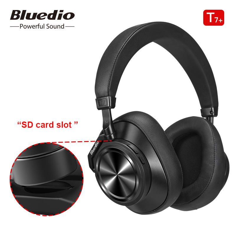 Bluedio T7+ Bluetooth Headphones ANC Wireless Headset bluetooth 5.0 HIFI sound with 57mm loudspeaker face recognition for phone