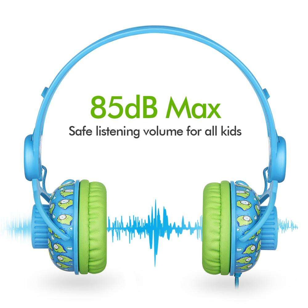 Children friendly headphone KD-370 Limited 85d kids earphones for ear kids safty