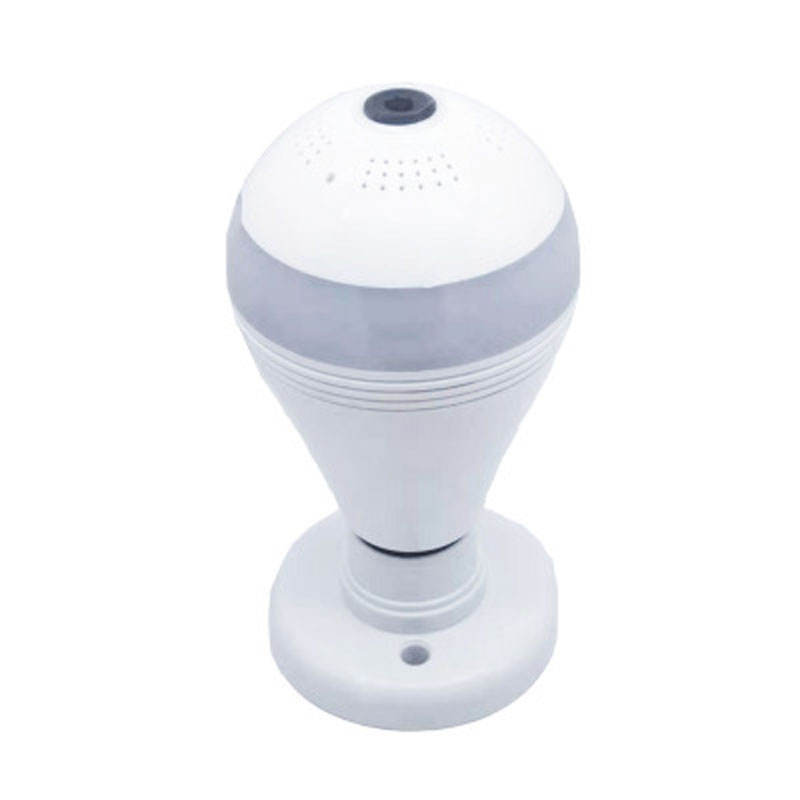 rotating nightvision remote control Wireless Panoramic Fisheye bulb security surveillance camera