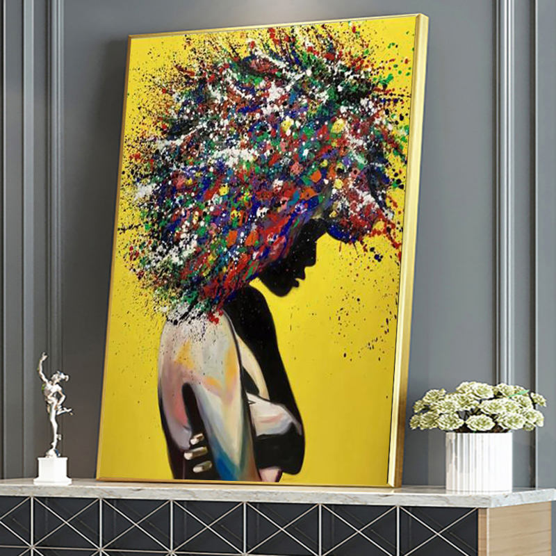 Modern Graffiti Wall Art Canvas Posters and Prints Art Girls Colorful Canvas Paintings on The Wall Pictures Room Home Decor