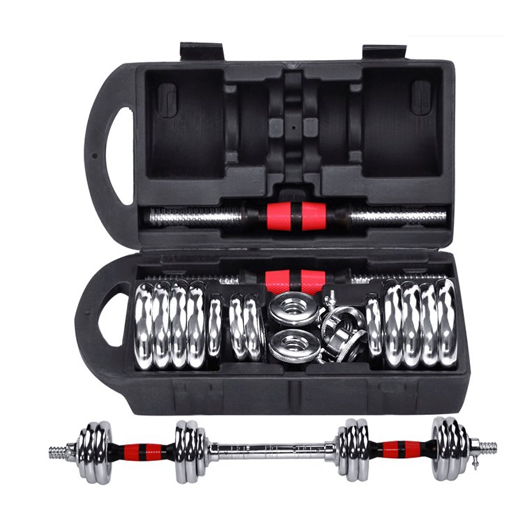 High Quality Adjustable Dumbbell Chrome Set Gym Free Weight Home Gym Dedicated Chrome Equipment Dumbbell