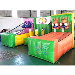 XIXI TOYS 3 in 1 Popular indoor event games Inflatable toss carnival games for kids and adults