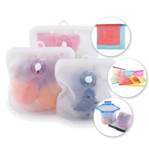 1500mL Sous Vide Airtight Seal Freezer Sandwich Zip Lock Zipper Reusable Vacuum Sealer Ziplock Silicone Food Storage Bags
