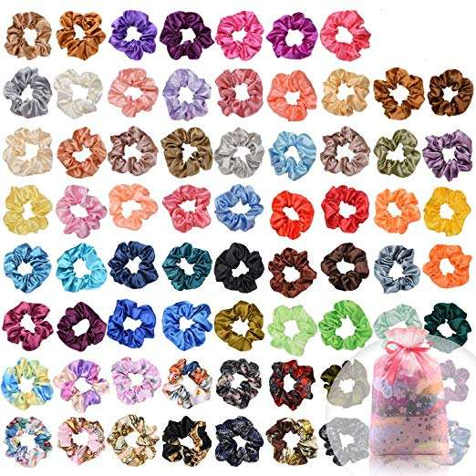 Hair Silk Scrunchies Hair Ties Ropes Scrunchie Satin Elastic Hair Bands Scrunchy