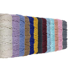 Wholesale twisted cotton rope macrame cord 5mm for macrame hanging