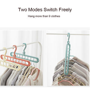 2020 New Arrival Clothes Drying Rack Magic Multifunction Foldable Plastic Magic Organizer Hanger