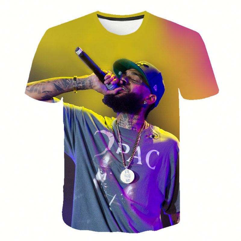 Customised T-shirts Nipsey Hussle High Quality Tshirts 3d Men Clothes Hip Pop Top Hot Sales Short Sleeve Tshirt Muscle Tee
