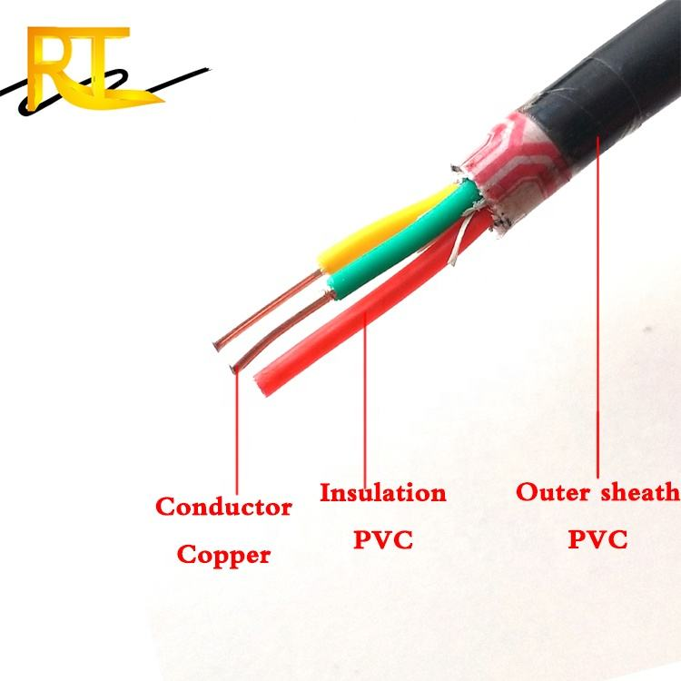 housing wire PVC sheathed 3x2.5mm2 power cable electrical wire