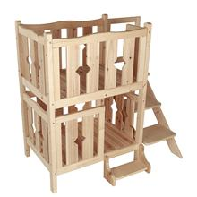 Fashion Indoor Wooden Pet Cat Dog Bunk Bed with Stairs