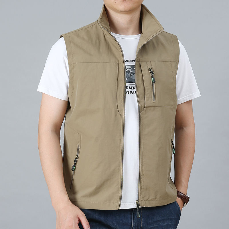 Outdoor New autumn mens sleeveless jacket work waistcoat photographer vest with custom logo