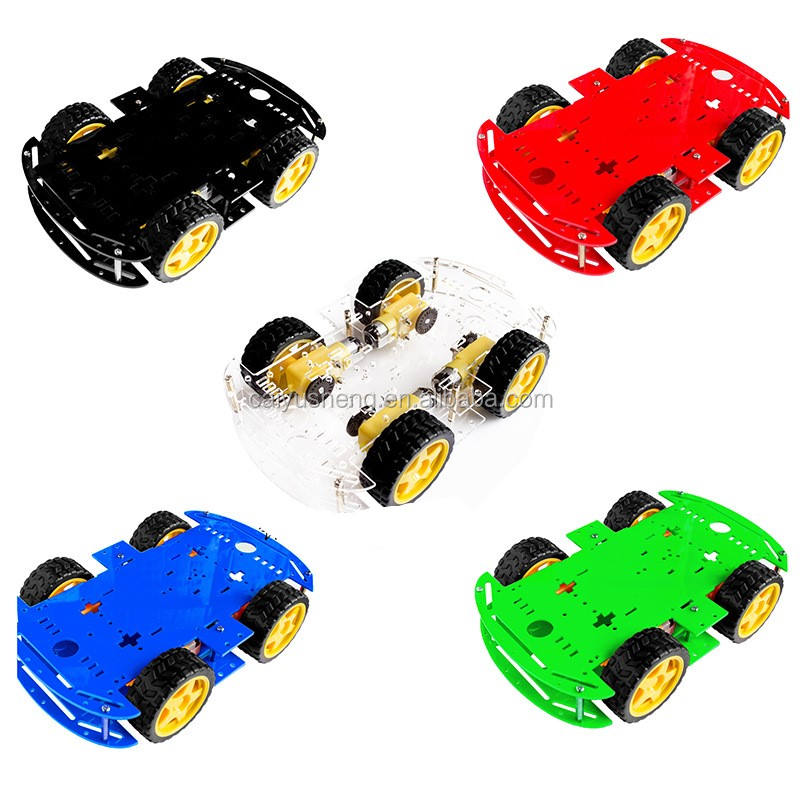 4WD di Smart Robot Car Chassis Kit Per RC Auto