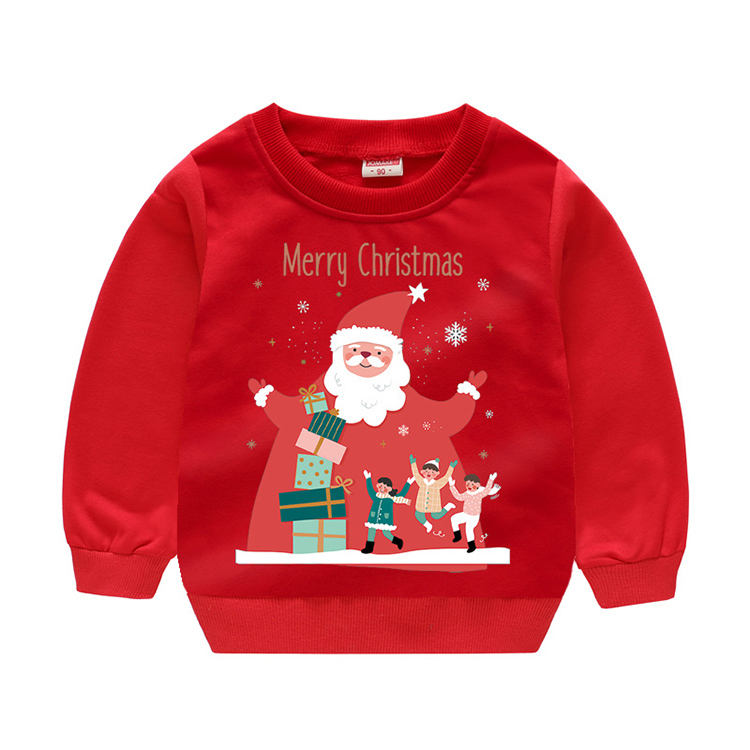 90-130 CM Christmas Cotton Sweater Wholesale Customise Manufacturer Supplier Cartoon Children Jumpers Xmas Gift Dresses