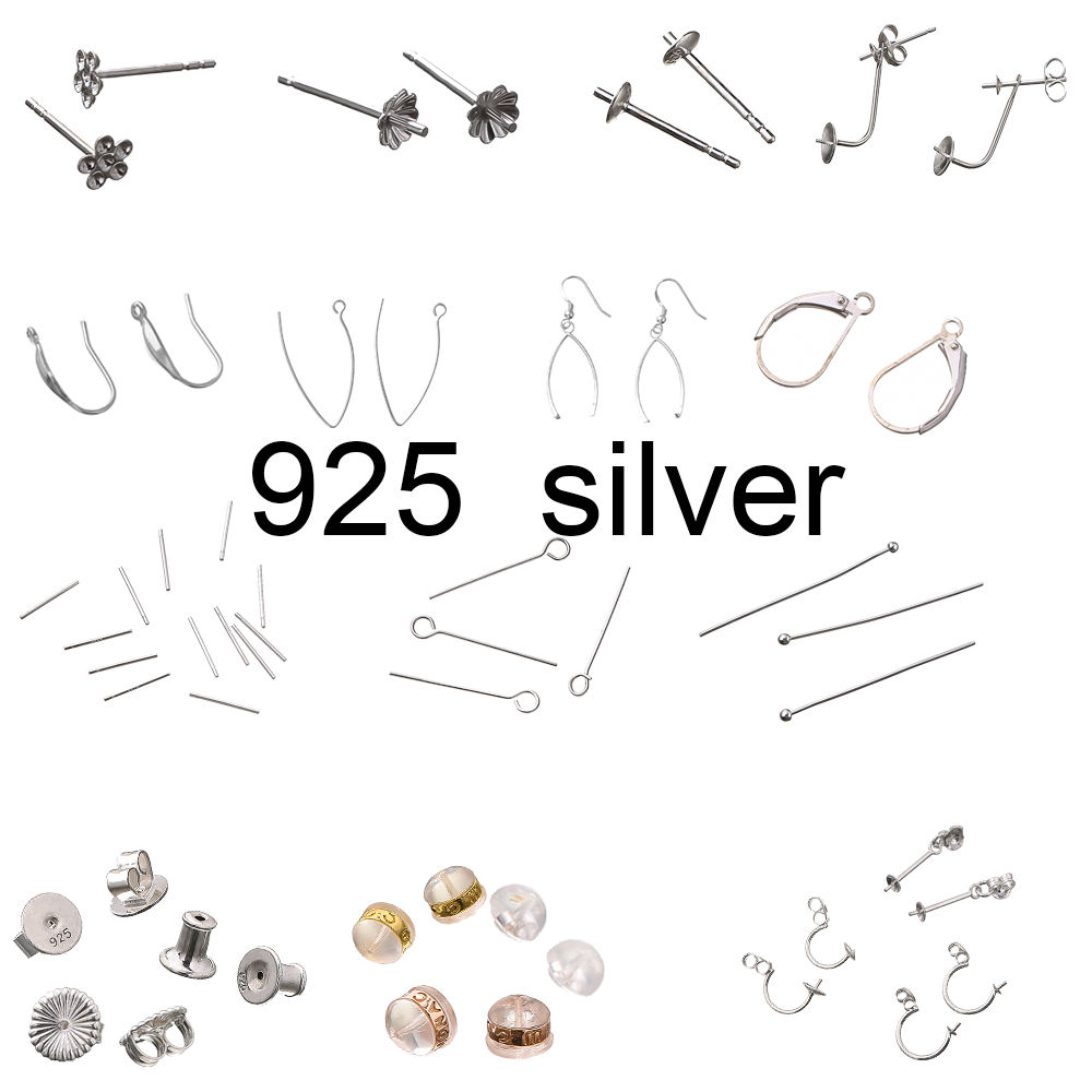 fashion Jewelry accessories earring line for jewelry making simple design 925 sterling silver ear line jewelry findings