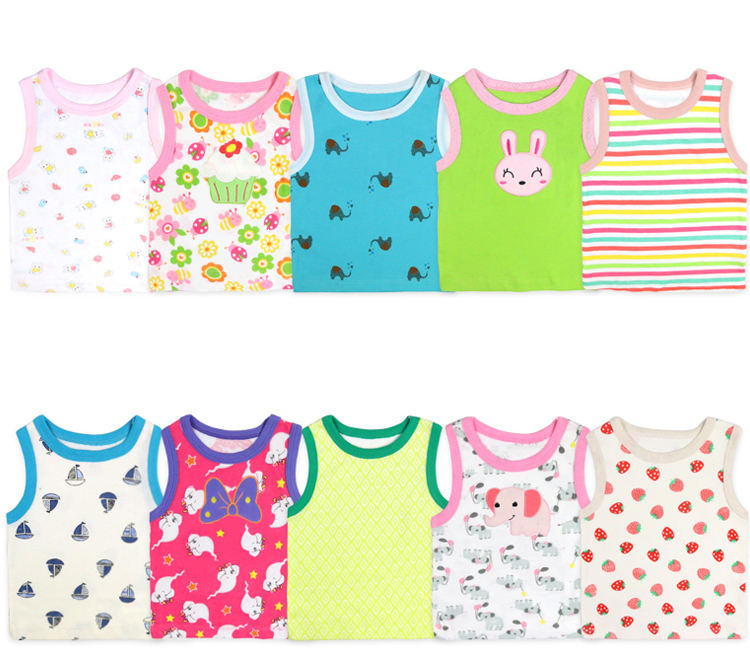 wholesale baby summer sleeveless T-shirt lovely infant&toddler vest colorful baby clothes