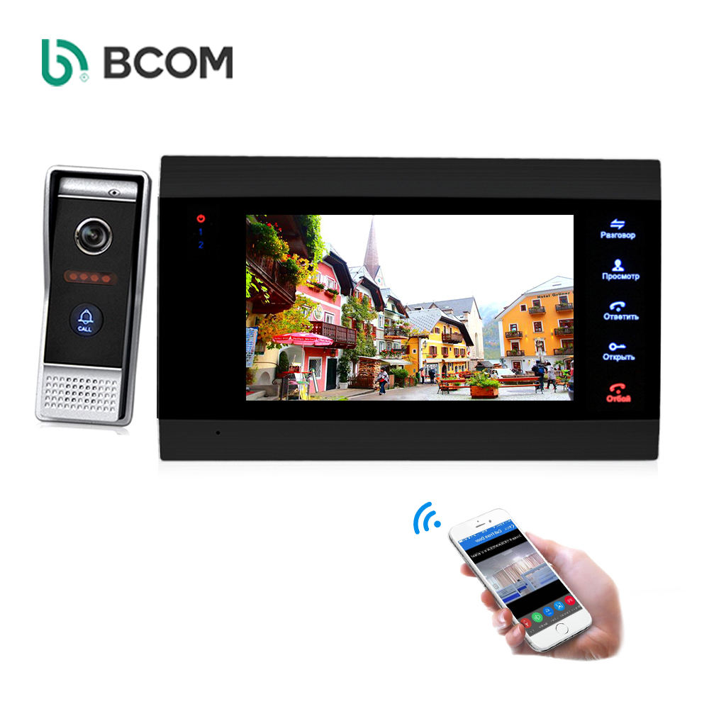 Wireless Tuya Android IOS APP mobile remote control 4 wire 720P 960P video door entry system