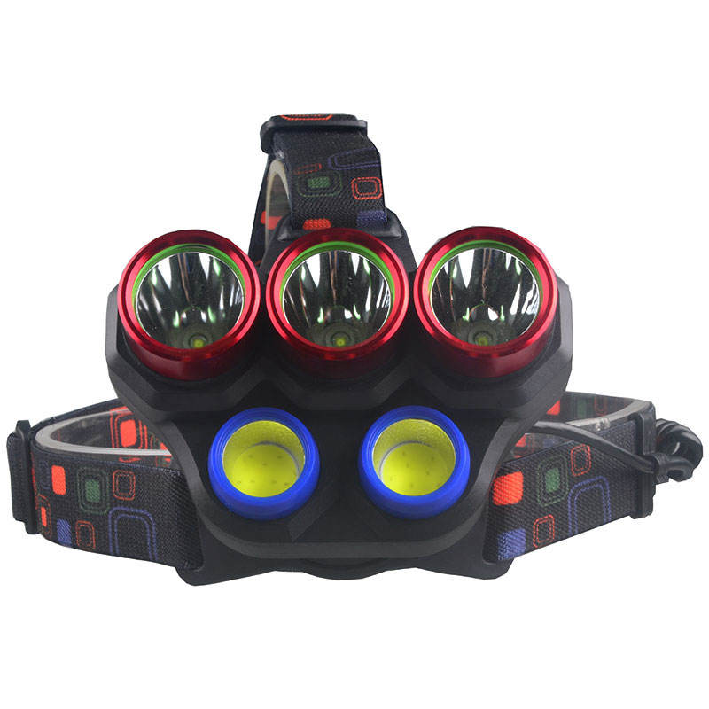 Best Seller 4 Color Option XM-L2 Head Lamp High Power led headlamp 5000 lumen rechargeable