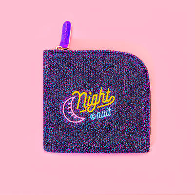 2019 latest new Girl Glitter fashion cute embroidery wallet money clip