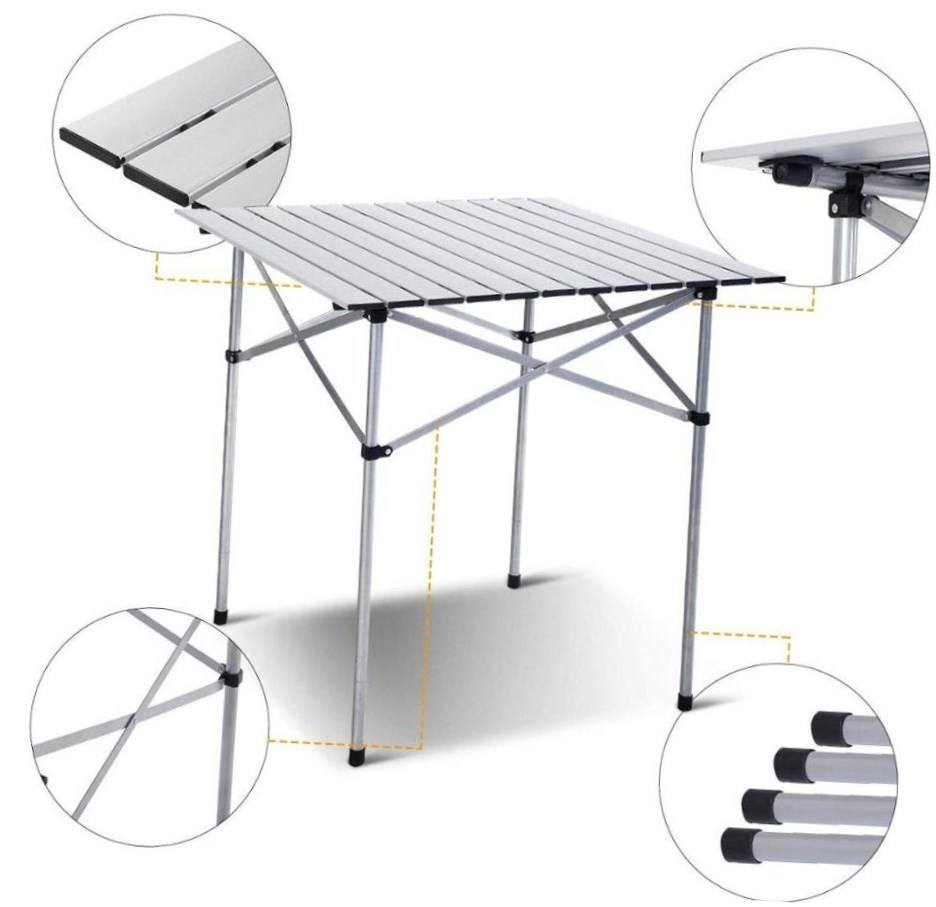 ultra light t pc portable slot outdoor furniture extended dinning aluminium table roll en inclinee set
