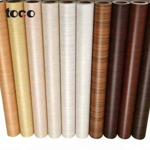Wholesale self adhesive Wood Texture pvc decorative furniture foil vinyl wood grain film covering