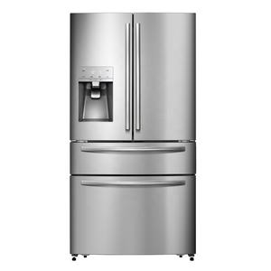 LED Display Stainless Steel French Door Refrigerator With Ice Maker