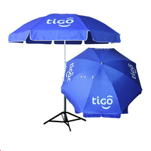 2020 Holt Sale Beach Umbrella Outdoor Logo Print Blue Oxford Wind Proof Tigo Beach Umbrella