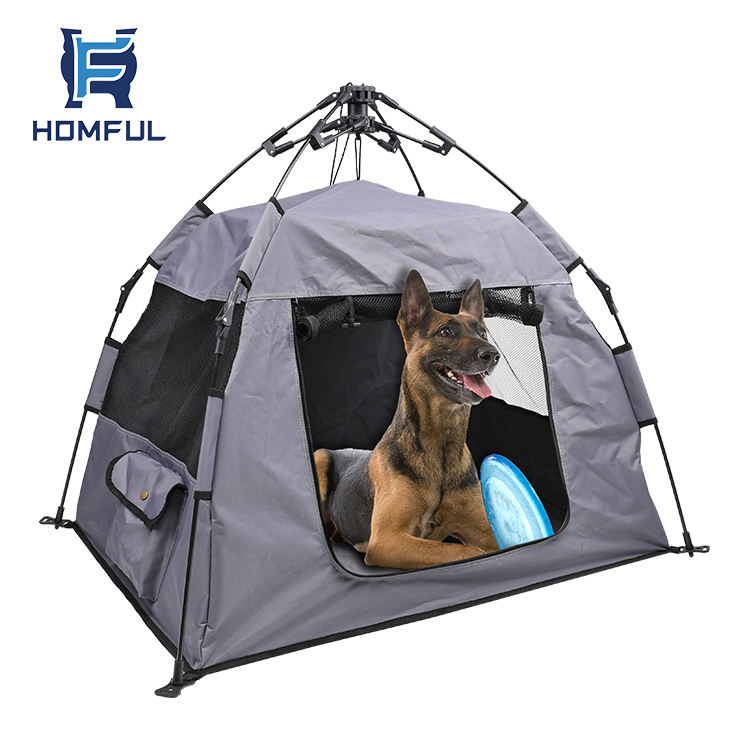 HOMFUL Pop Up Pet Tent Dog Cat Sleeping House Camping Pet Tents