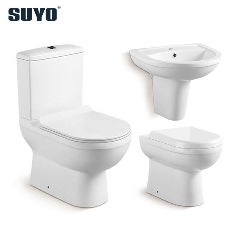 Australia floor mounted modern gravity bathroom water saving ceramic two piece toilet water closet