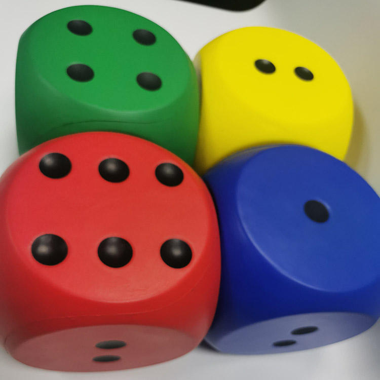 Colorful Pu game Dices Set Soft Stress Relief Kids Toys Gift
