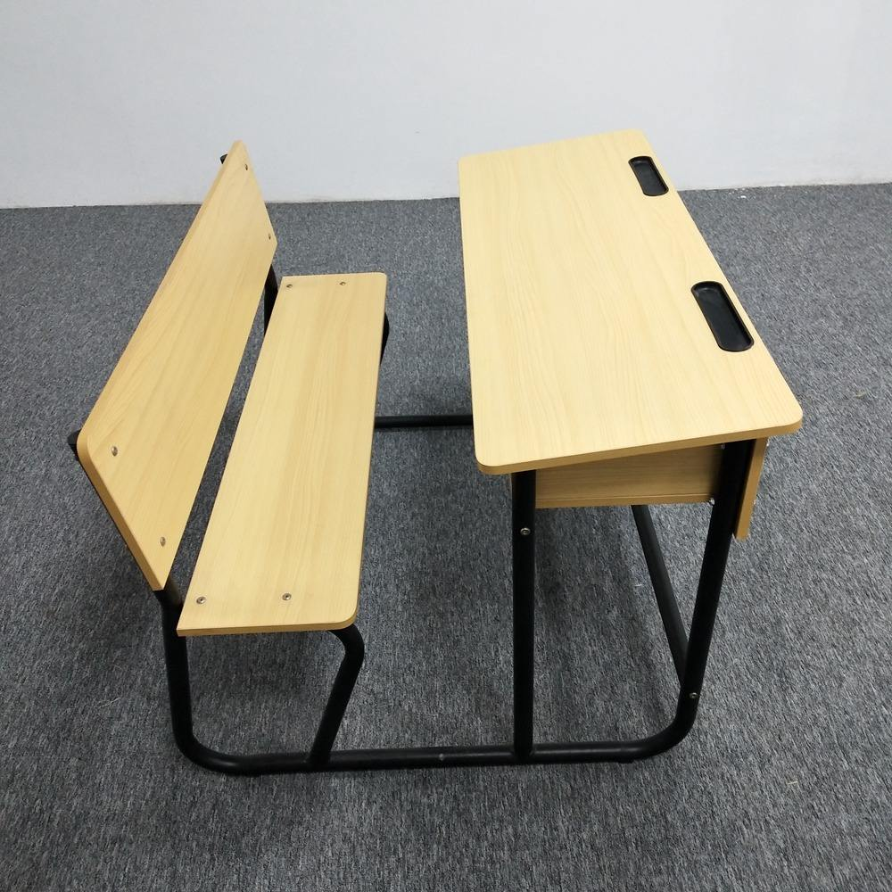 Double Place Student High School/Elementary Student Desk Chair School Classroom Furniture