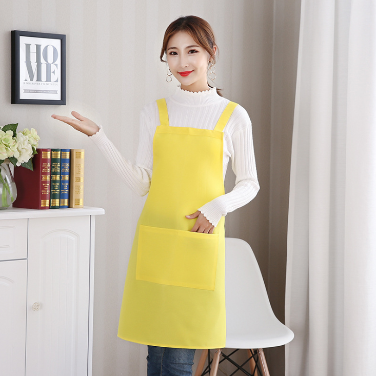 Accept customer logo polyester waterproof restaurant work clothes kitchen apron