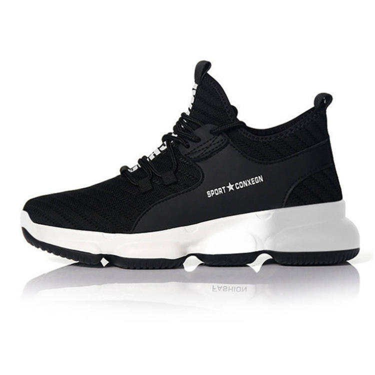 2021 With High Quality ODM and OEM Soft Light Weight Outdoor Black Black Sports Shoes Men Sneakers