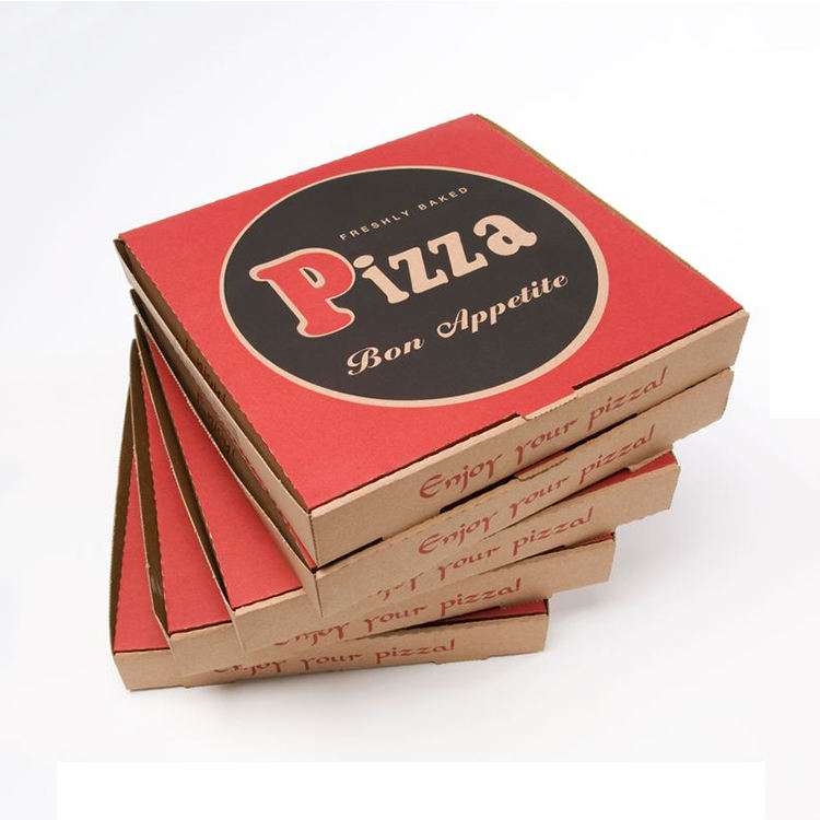 Wholesale Cheap Custom Printed Personalised All Size 9 10 11 12 14 18 Inch Corrugated Kraft Paper Pizza Boxes
