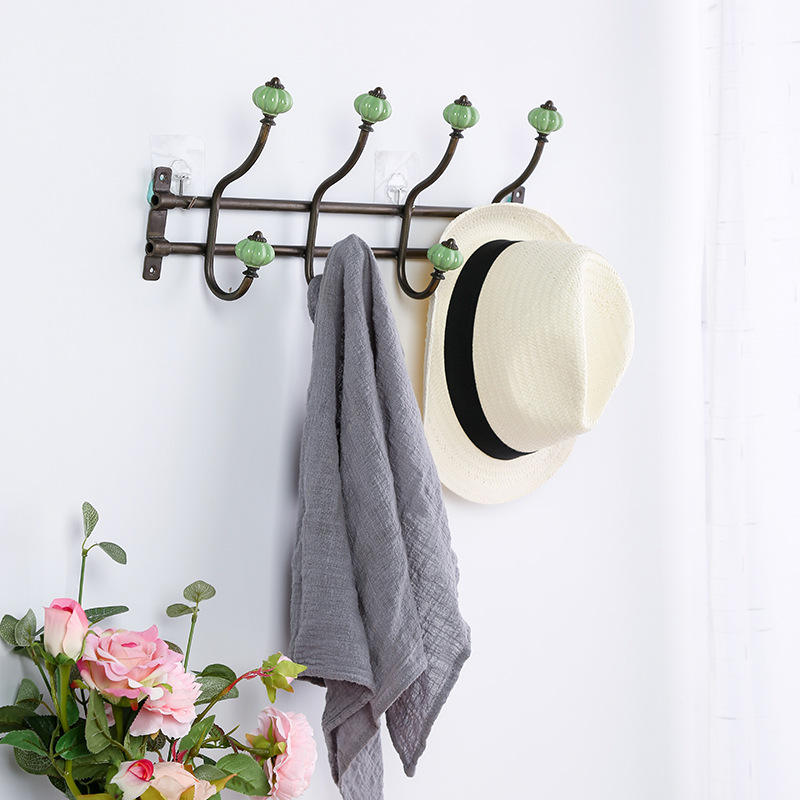 Simple And Creative Iron Clothes Hanger Coat Rack Coat Hooks Wall Hanging Wall Home Decoration