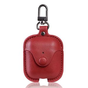 Full Protective for Airpods Case PU Leather Wireless Earphone Charging Case