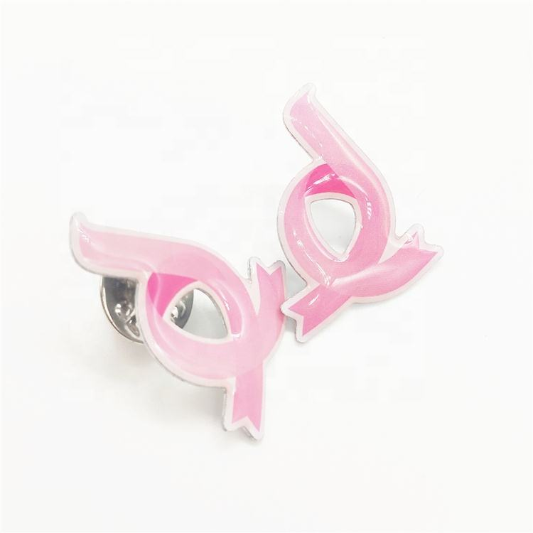 De Metal Rosa Fita Aids Pin/ Breast Cancer Awareness Lapela Emblema Do Pino