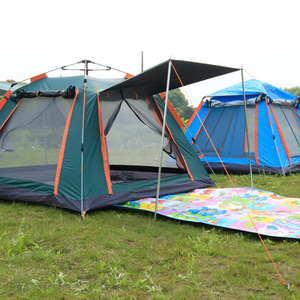 Wholesale Camping Ventilation Strong Rainproof Family Large Space Flagship Automatic Tent New Product Upgrade