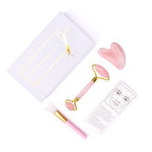Best Selling Wholesale  Noiseless Natural Rose Quartz Roller with Box