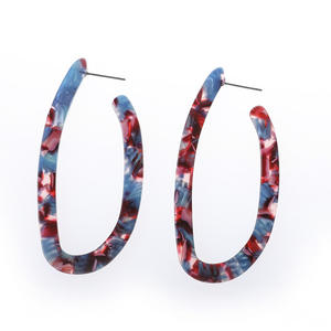 Fashionable Exaggerate Geometric U Shape Acetic Acid Earrings For Women