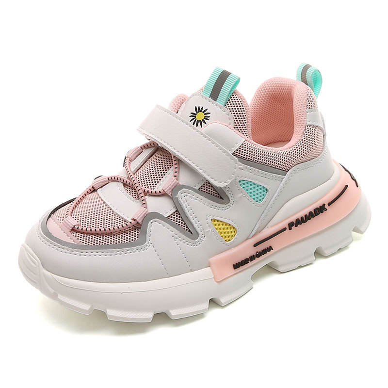2020 New Spring/Autumn Children Shoes Unisex Boys Girls Sneakers Mesh Breathable Fashion Casual Kids Sport Shoes Size 27-38
