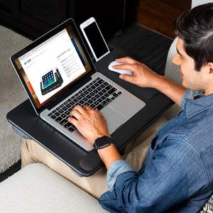 Portable laptop stand with cushion for bed and office and home Lap Desk with Device Ledge, Mouse Pad, and Phone Holder