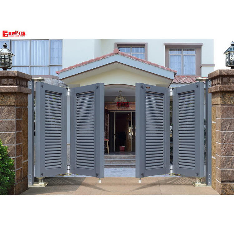Aluminum art gate suspended folding door electric villa garden gate european courtyard gate design simple design arden door