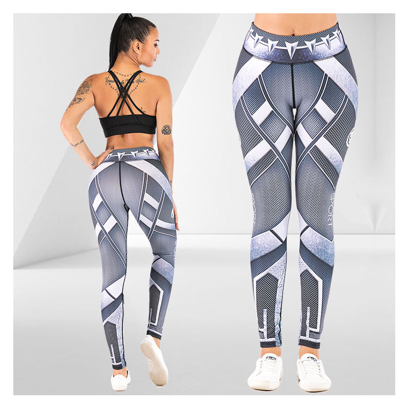 Workout Wear Black Panther Printed Leggings Womens Sports Wear Yoga Fitness Printed Leggings