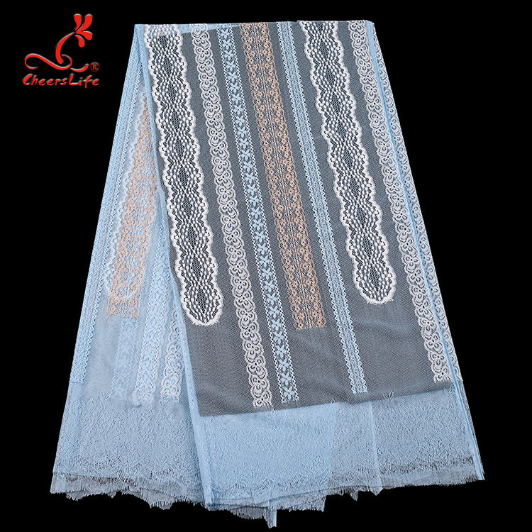 High end quality nylo eyelash nigerian lace fabric 2020 asos kenya design swiss lace fabric for pleated skirt