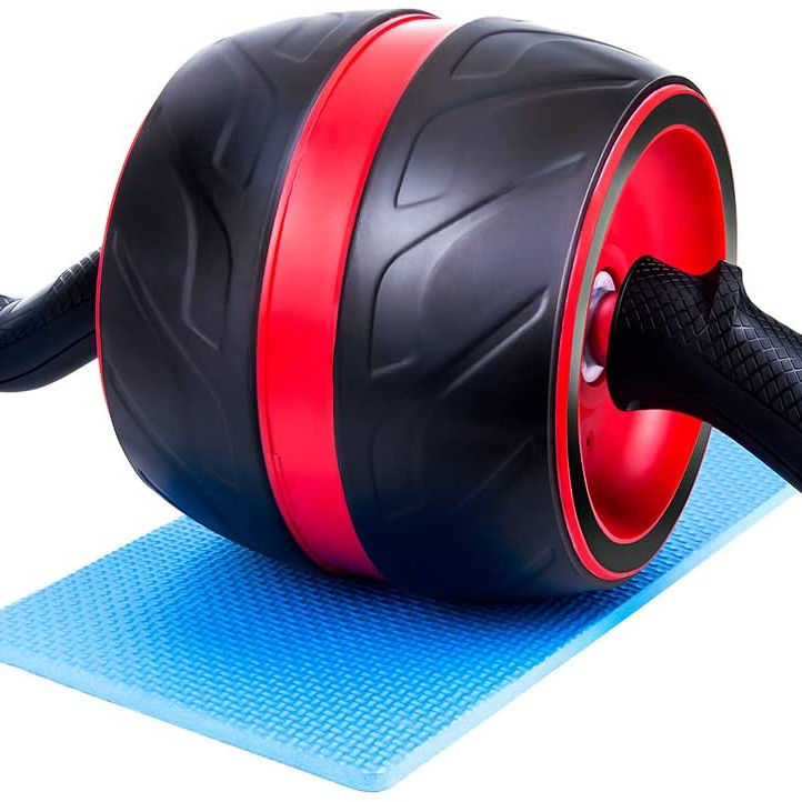 No noise core abdominal trainer ab roller with handles