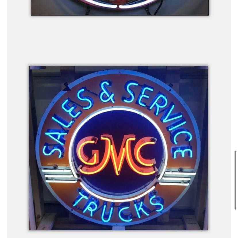truck sign custom design neon sign