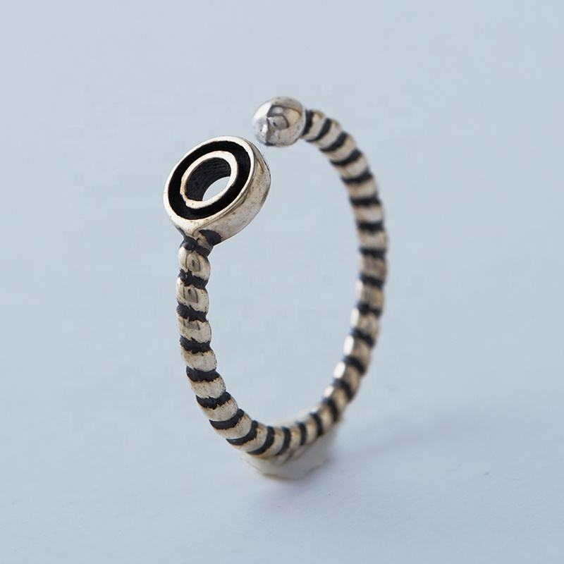 latest new design sterling silver bronze finishing spiral masonic ring